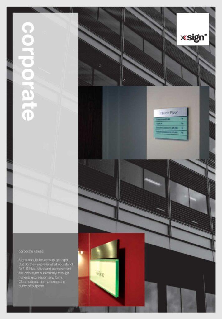 corporate signage brochure